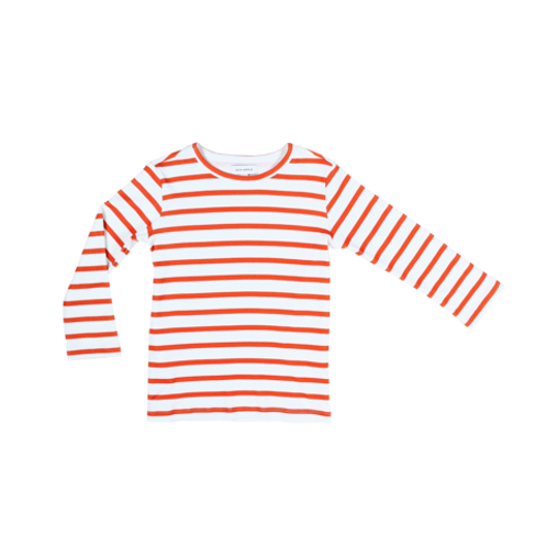Sea Apple Red Stripe Long Sleeve Top