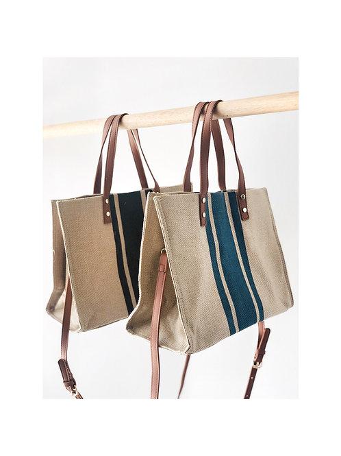 Stripe Woven Bag