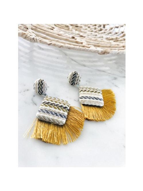 Cotton Woven Tassel Earring