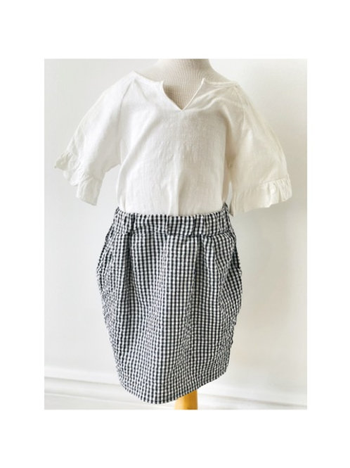 2 Piece Top & Gingham Skirt