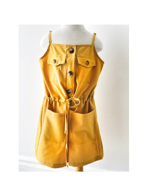 Mustard Button Tie Playsuit