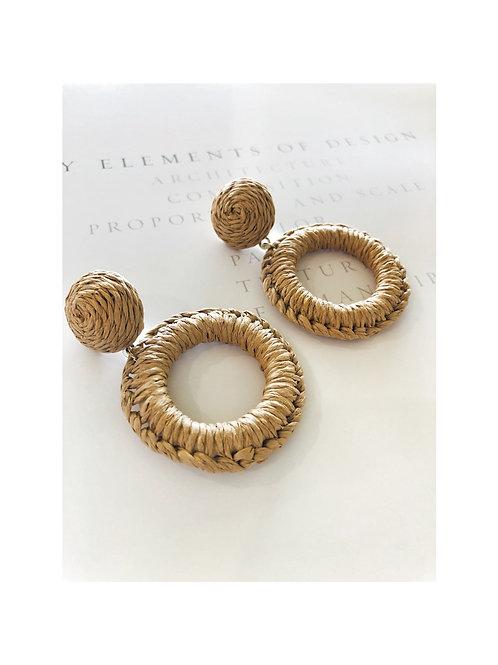 Hyacinth Hoop Earrings