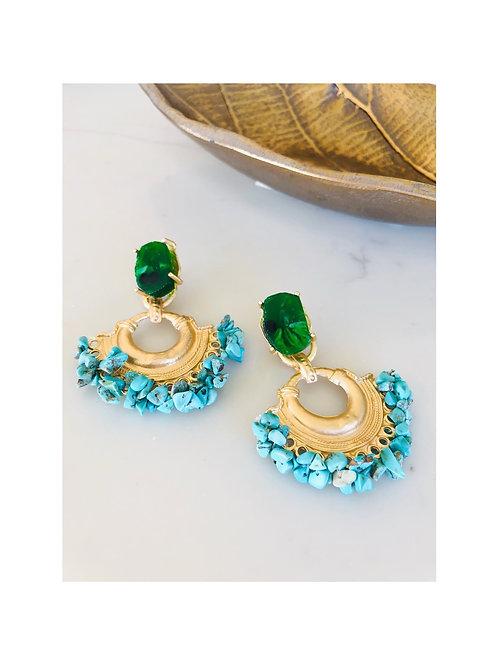 Boho Vintage Stone Earrings