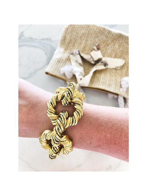 Chunky Antique Gold Bracelet