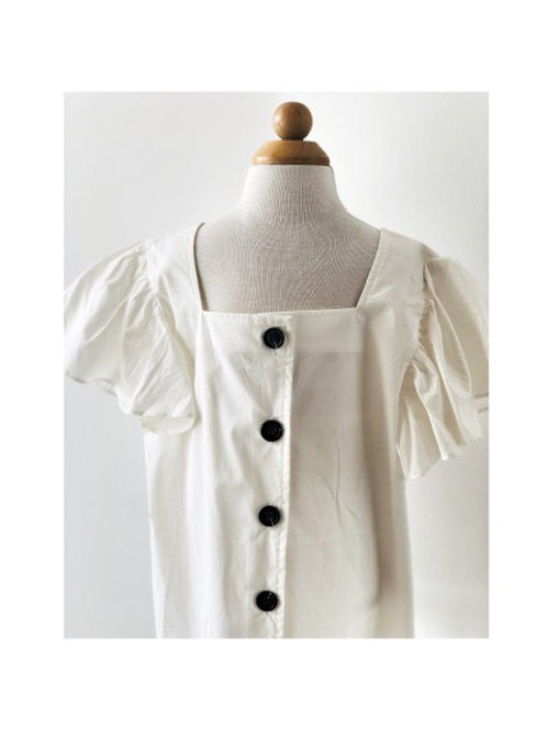 Ruffle Sleeve Button-up Blouse