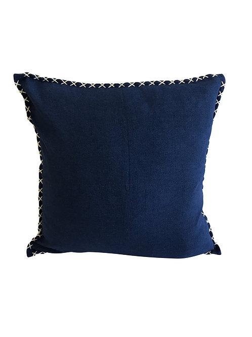 Blue Stitch Cushion Cover