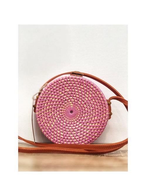 Girls' Round Woven Rattan Bag