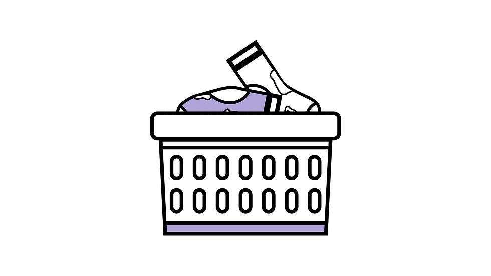 Canasto de ropa de lavandería para lavado y secado 5 kg