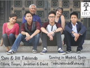 Sam and Jill Tabiendo, Missionaries to Madrid, Spain