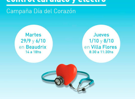 """#Roldán: controles en los dispensarios por el """"Día Mundial del Corazón"""""""