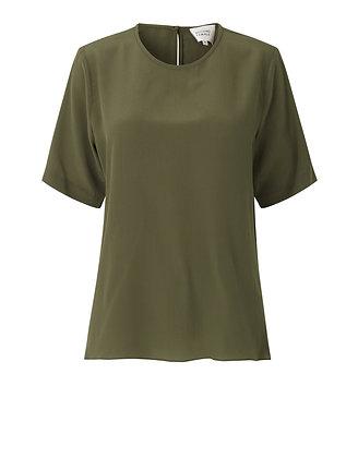 Second Female Tonga Silk SS T-Shirt Olive Night