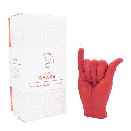 Shaka Hand Candle - Red