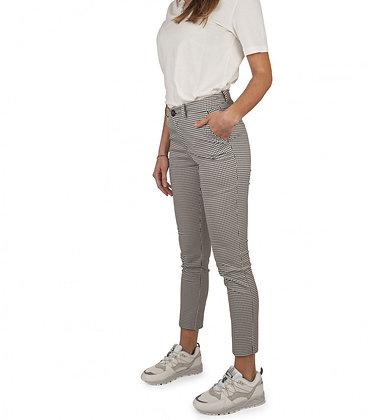 Capri Techno Cotton Check Lady Pantalone