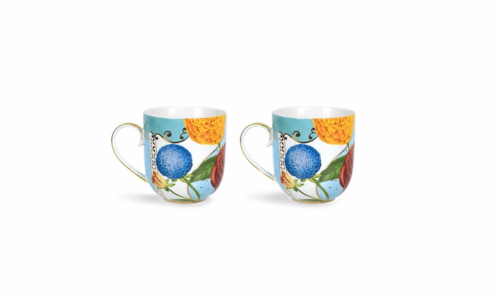 Royal Flowers Set of 2 mugs small