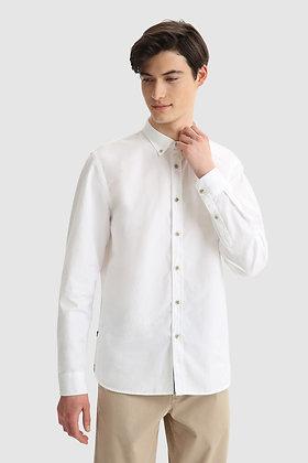Camisa Oxford de algodón ligero teñida en prenda