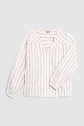 Blusa de lino y algodón