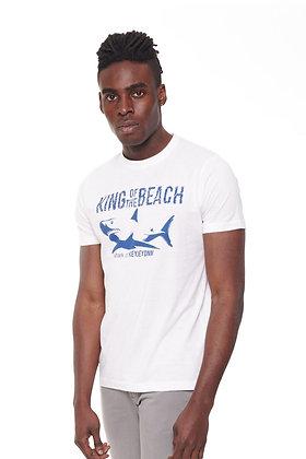 Camiseta con estampado shark king