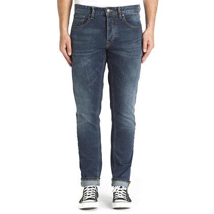 Alma Tappered Worn Indigo Jeans