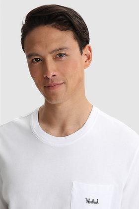 Camiseta bolsillo bright white