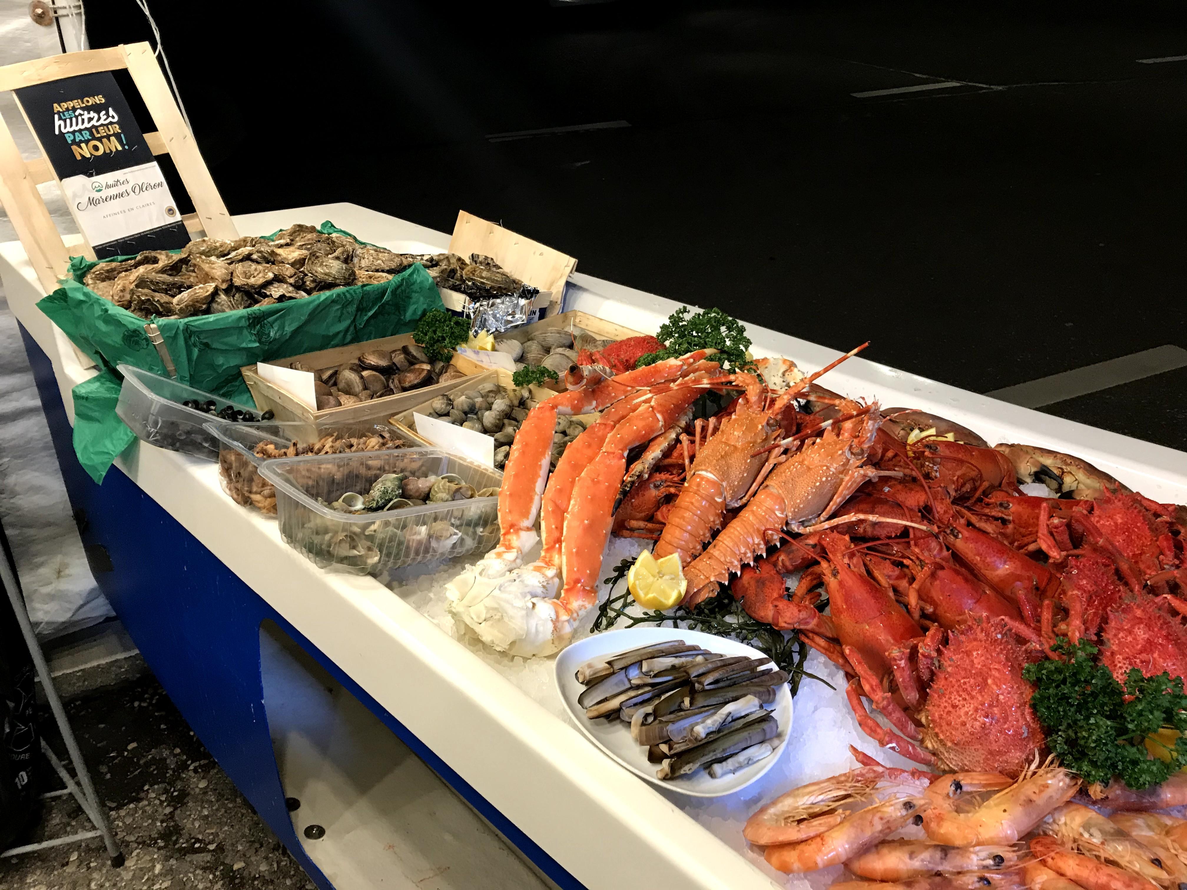 Choix de fruits de mer