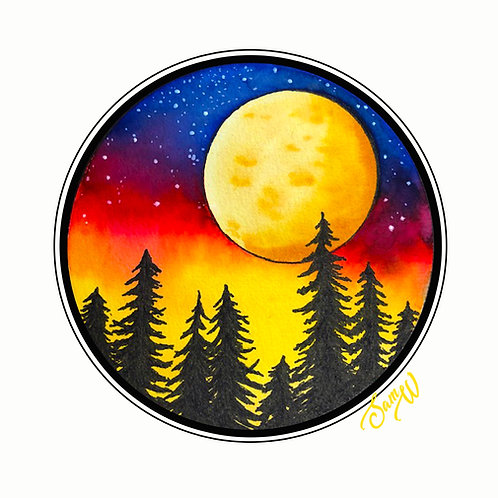 Moon Note Card
