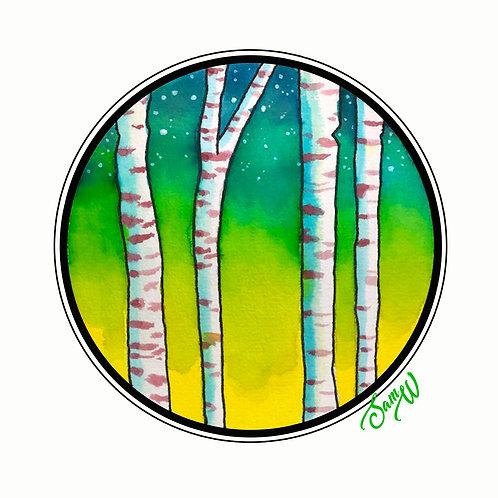 Poplar Tree Note Card