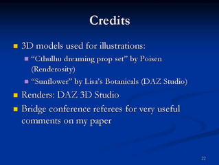 My presentation at Bridges 2015 conference