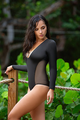 Luxe Mesh Panel Swimsuit