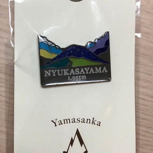 登山バッジ 入笠山(A) ヤマサンカ yamasanka