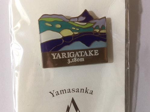 百名山バッチ054槍ヶ岳(B)yamasanka