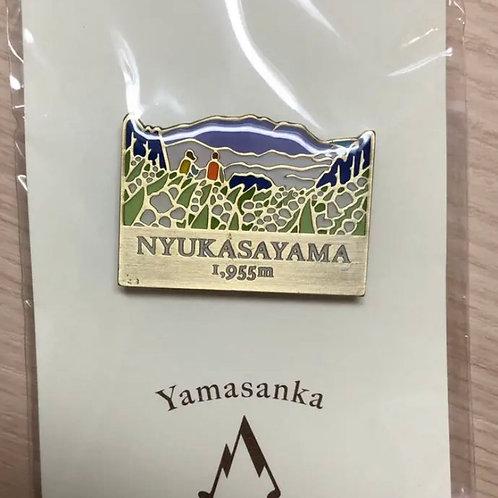 登山バッジ 入笠山(B) ヤマサンカ yamasanka