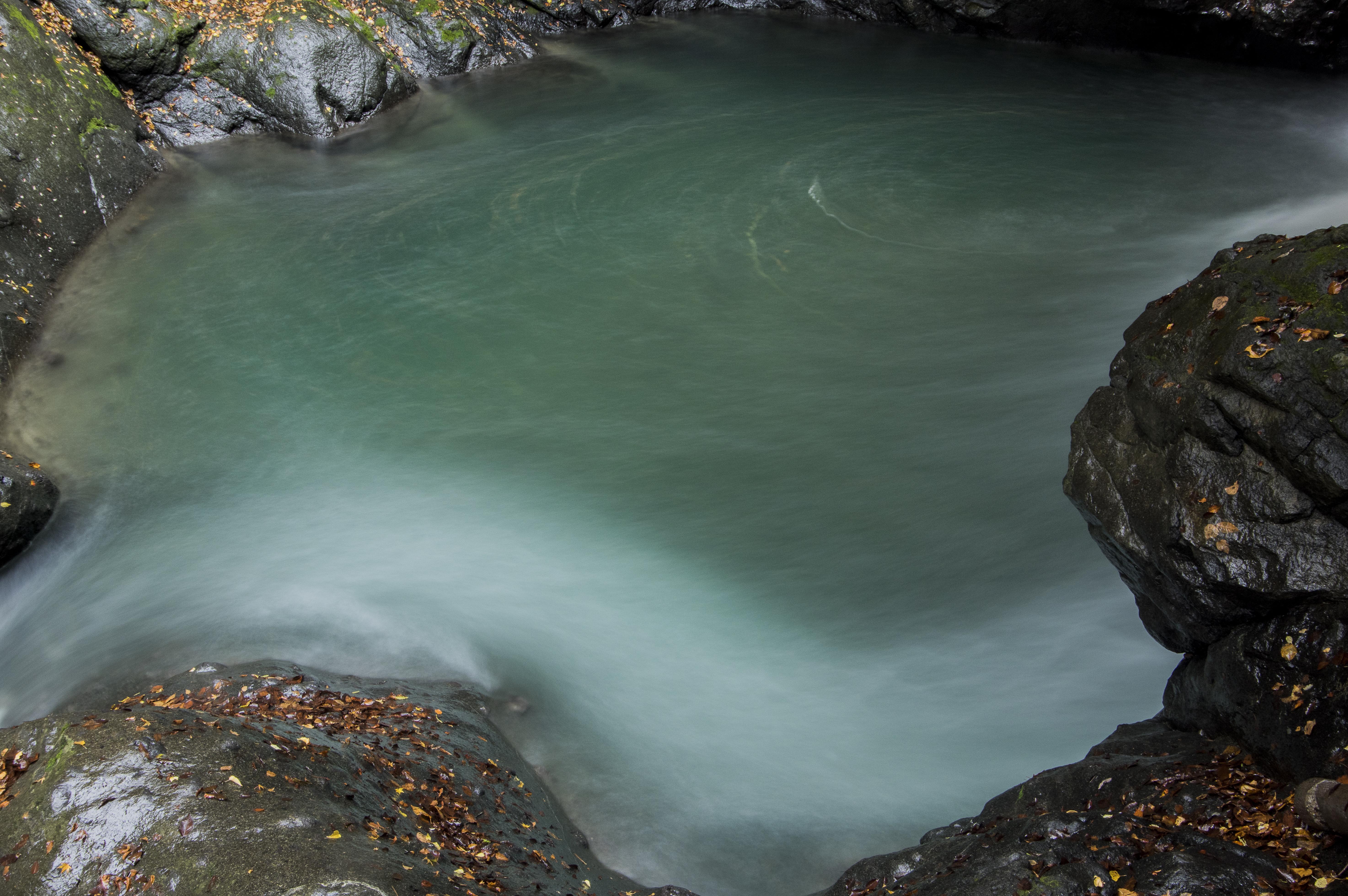大柳川渓谷の緩やかな流れ