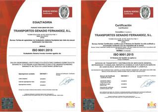 Certificados en la ISO 9001:2015 Calidad