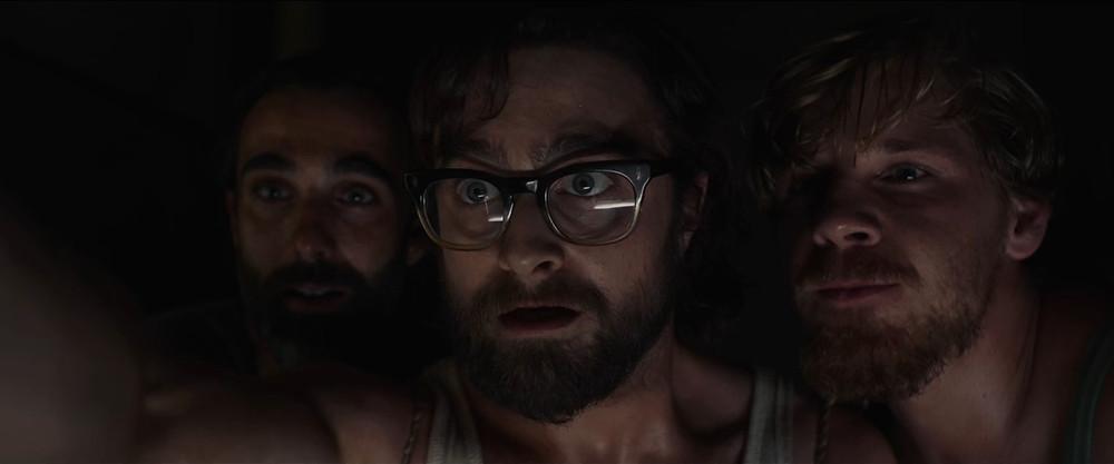 Daniel Radcliffe, Daniel Webber and Mark Leonard Winter in 'Escape to Pretoria'. Credit: Spier Films
