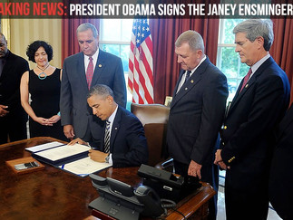President Obama signs Janey Ensminger Act