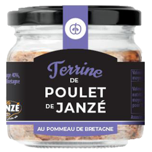 Terrinede Poulet de Janzé au Pommeau de Bretagne 90GR