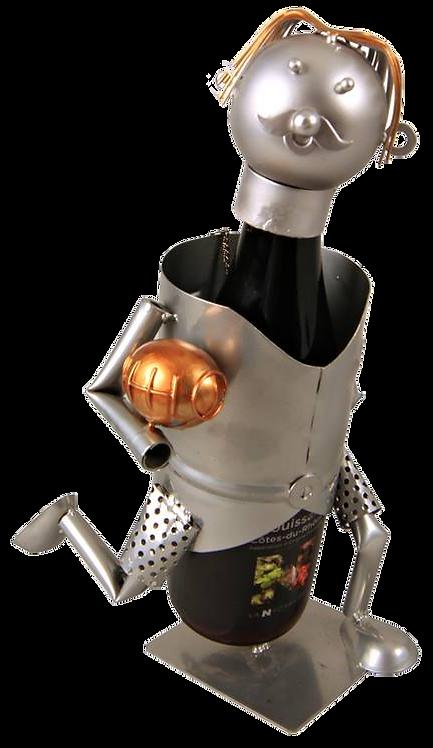Support bouteille Félix métal - Rugbyman n 15