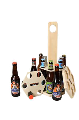 Emballage seul Carrousel à bière bois naturel 12 bières 33cl