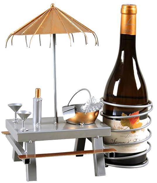 Support bouteille Table Pique Nique
