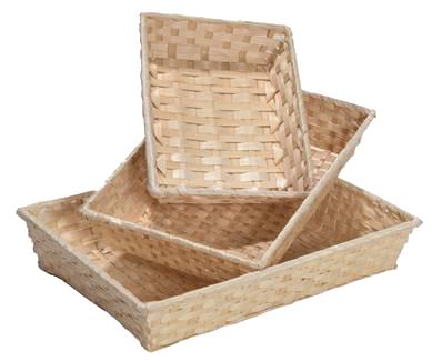Corbeille bambou naturel 36x26.5x7.5cm