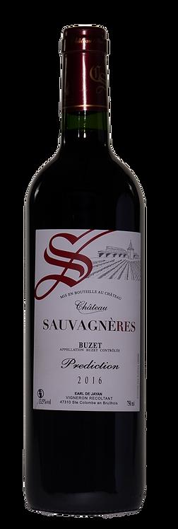 """Buzet Prédiction  """"Château Sauvagnères"""" 2016 75cl"""
