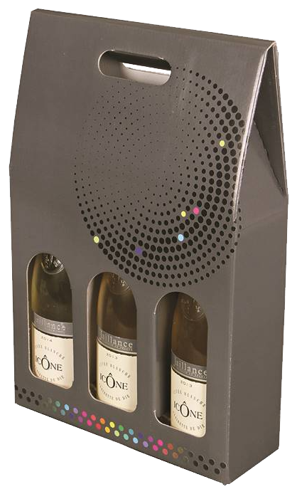 Emballage seul Valisette carton pour 3 bouteilles 75Cl