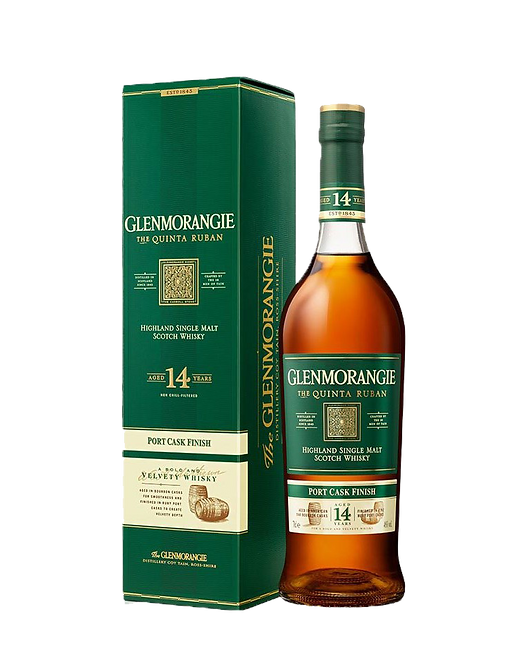 Whisky GLENMORANGIE Highland Single Malt THE QUINTA RUBAN 14 ANS 46° 70CL