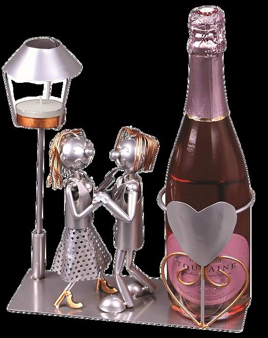 Support bouteille métal  Amoureux ♥