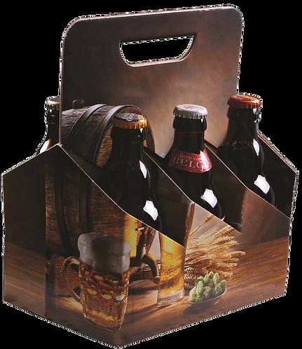 Emballage seul Valisette Houblon carton décoré 6 bières 33Cl