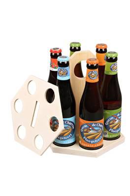 Emballage seul Carrousel à bière bois naturel 6 bières 25 / 33cl