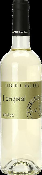"""Muscat Sec """"L'Original"""" Vignoble MALIDAIN 2018 75CL"""