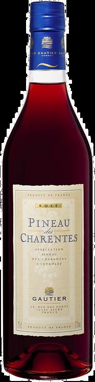 """Pineau des Charentes rouge """"Maison Cognac Gautier"""" 17° 75Cl"""