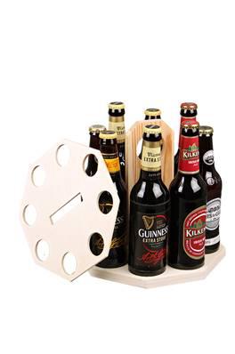 Emballage seul Carrousel à bière bois naturel 8 bières 25 / 33cl