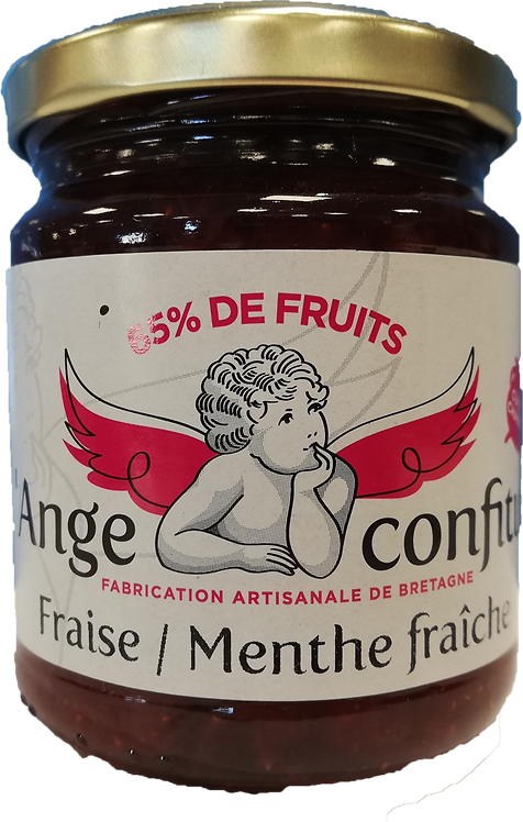 Confiture Fraise Menthe fraiche 250Gr